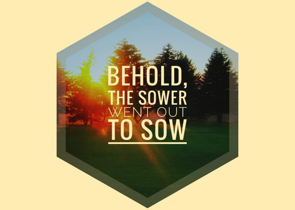 Behold the sower went out to sow