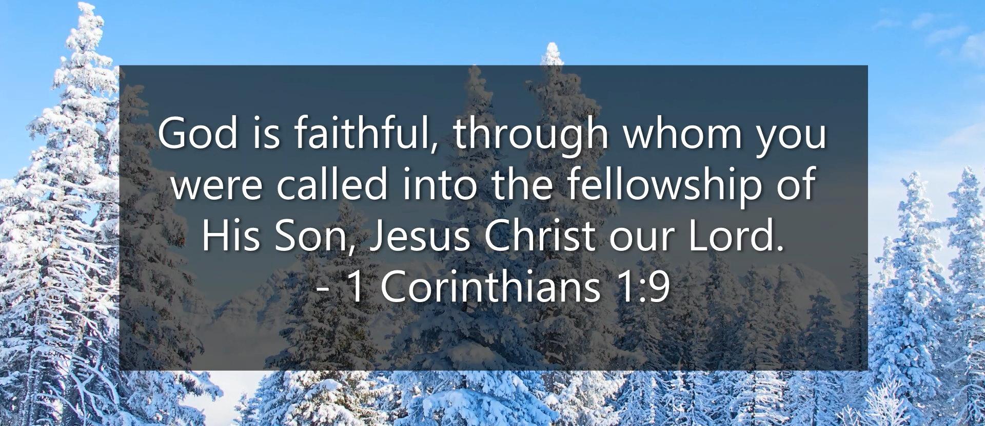 1 Cor 1-9 God is faithful - Sharp